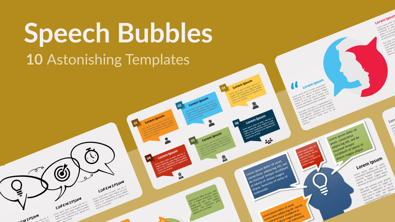 Free Speech Bubbles Templates for Powerpoint and Google Slides