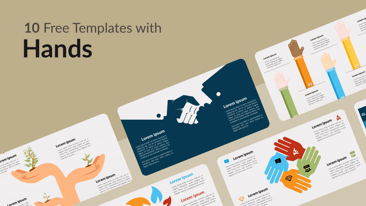 Free Templates with Hands for Powerpoint and Google Slides