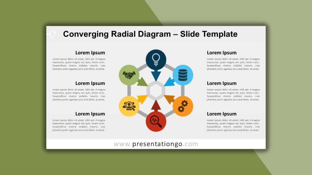 Free Converging Radial Diagram for PowerPoint and Google Slides