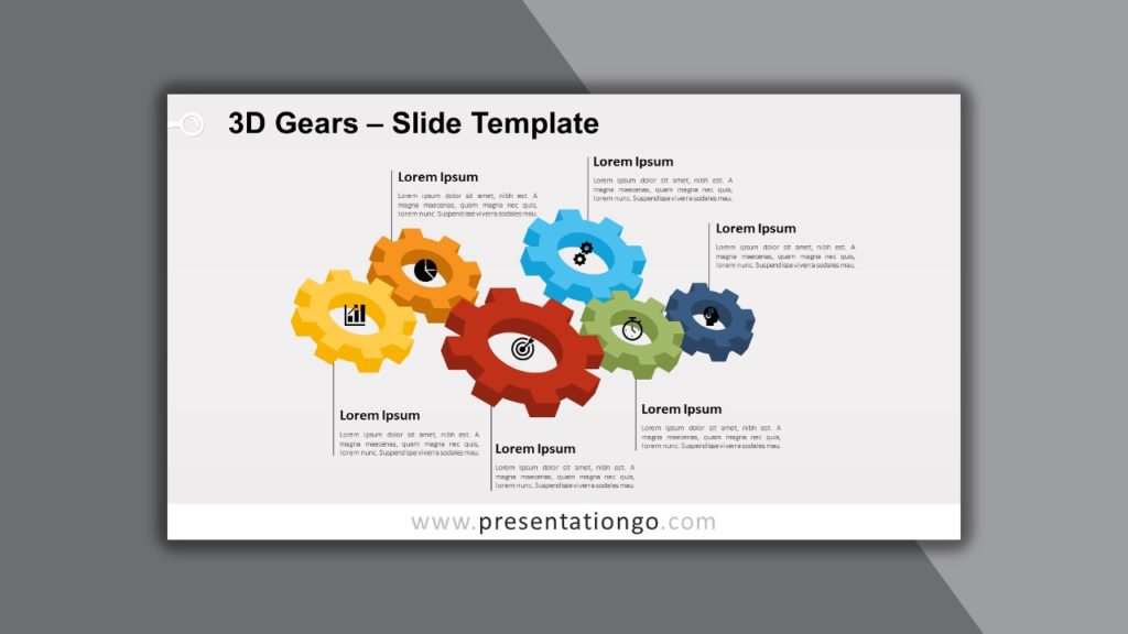 Free 3D Gears for PowerPoint and Google Slides