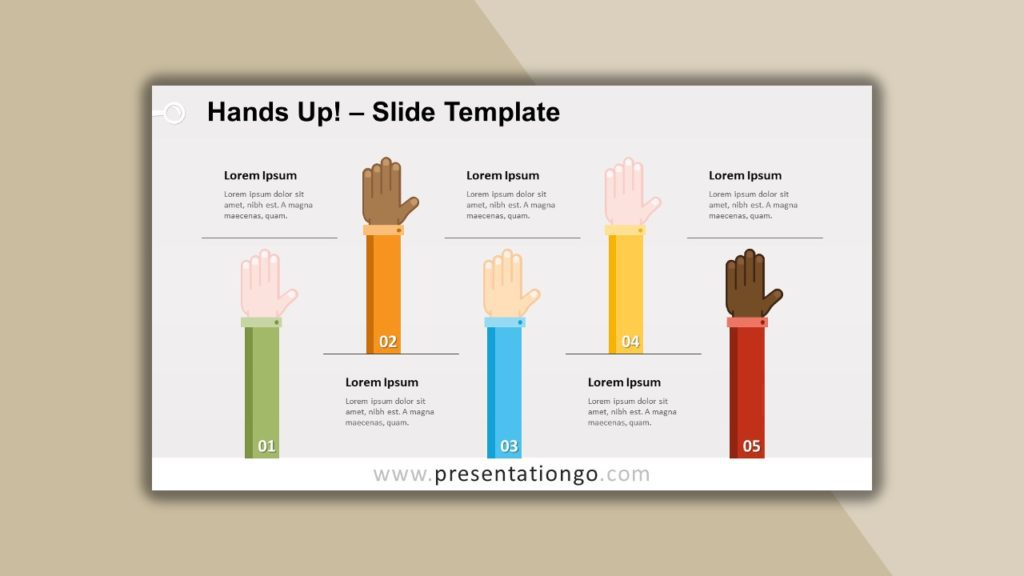 Free Hands Up for powerpoint and google slides