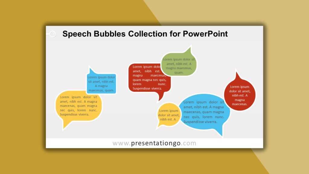 Free Speech Bubbles Collection for powerpoint and google slides