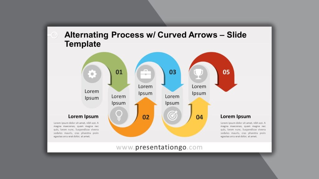 Free Alternating Processes Curved Arrows for PowerPoint and Google Slides