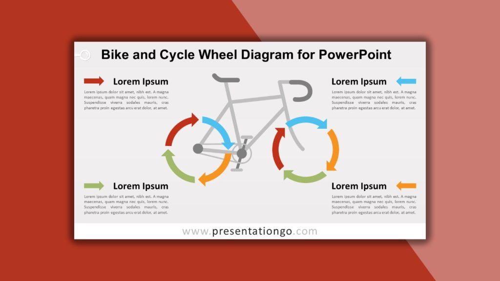 Free Bike and Cycle Wheel Diagram for PowerPoint and Google Slides