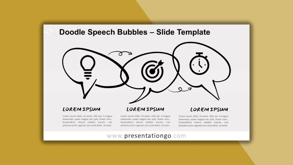 Free Doodle Speech Bubbles for powerpoint and google slides