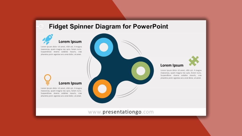 Free Fidget Spinner Diagram for PowerPoint and Google Slides