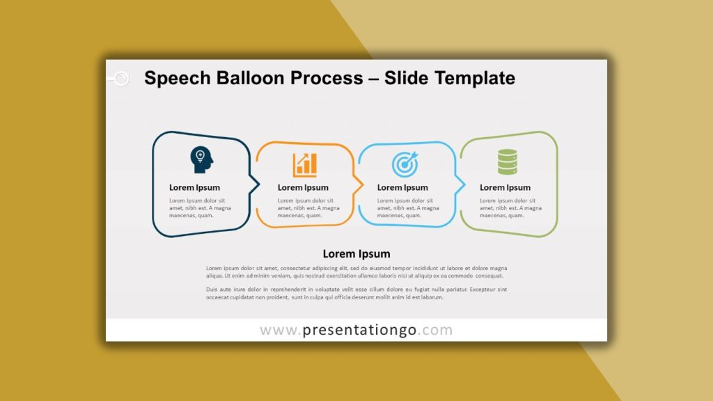 Free Speech Balloon Process for powerpoint and google slides