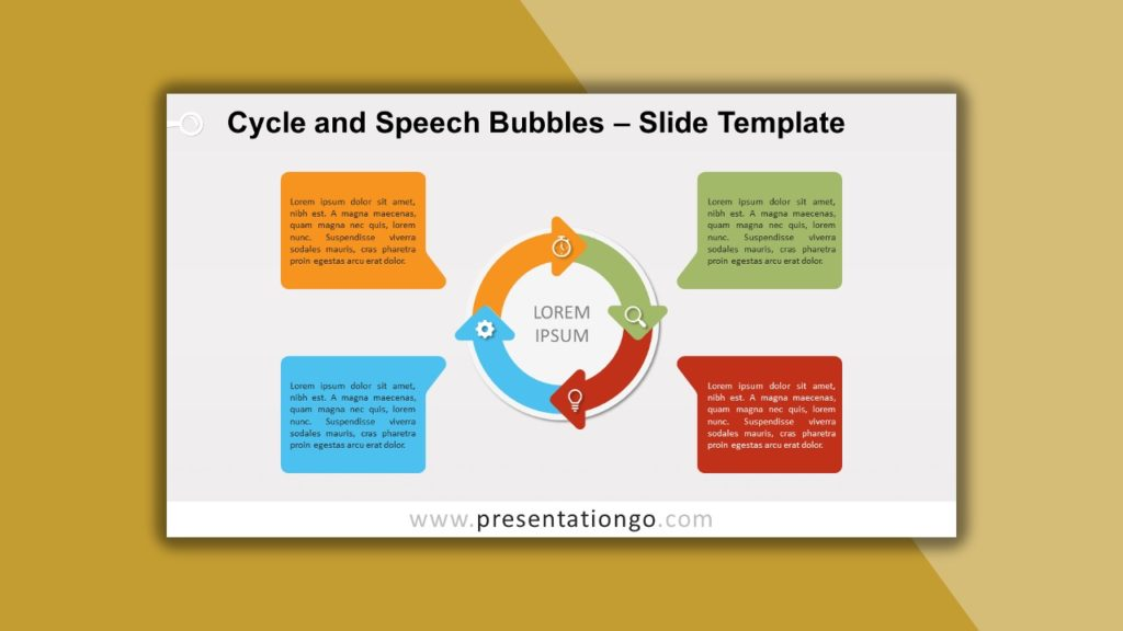 Free Cycle and Speech Bubbles for powerpoint and google slides