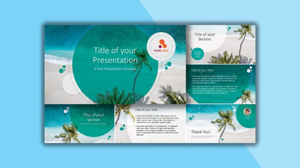 Free Beach Template for PowerPoint and Google Slides