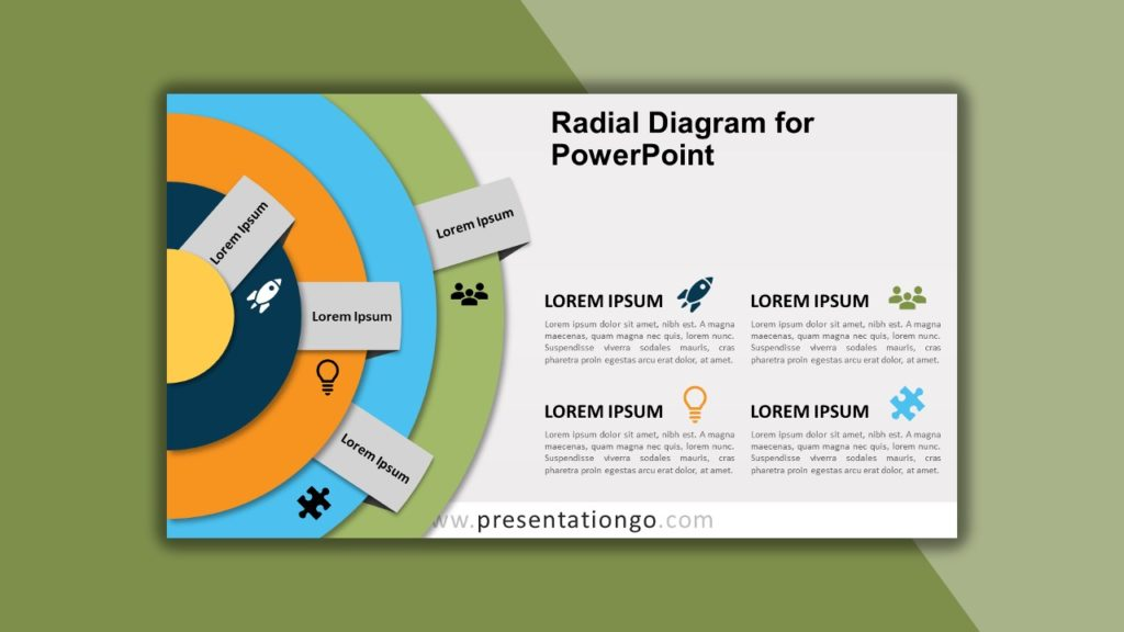 Free Radial Diagram for PowerPoint and Google Slides