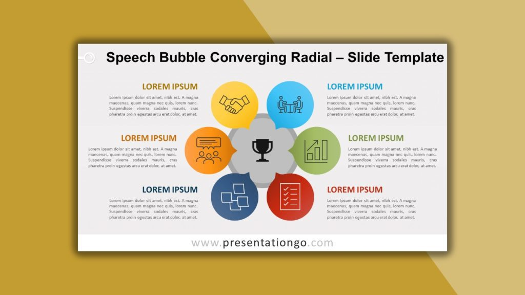 Free Speech Bubble Converging Radial for PowerPoint and Google Slides