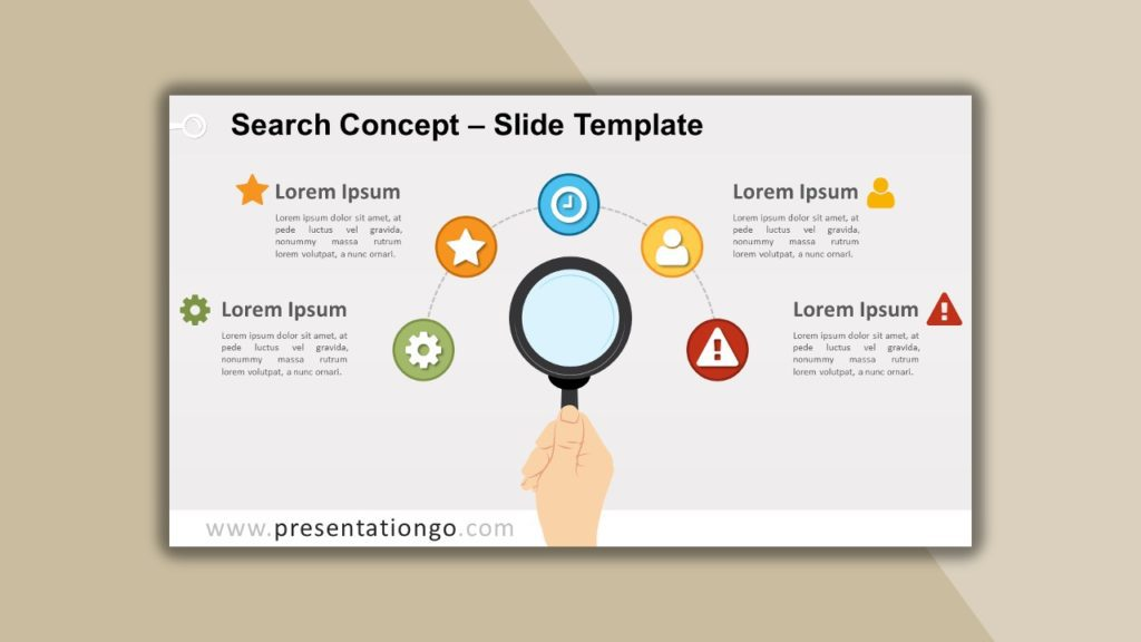 Free Search Concept for powerpoint and google slides