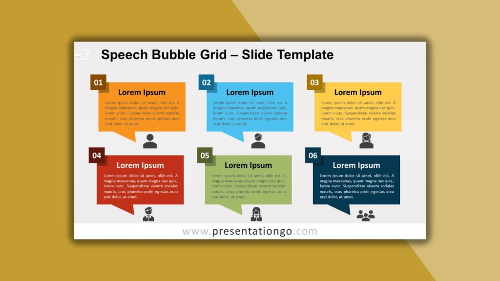 Free Speech Bubble Grid for powerpoint and google slides