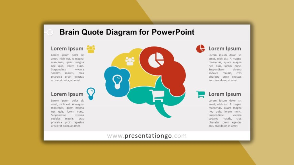 Free Brain Quote Diagram for powerpoint and google slides