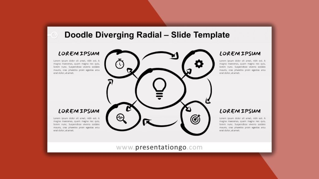 Free Doodle Diverging Radial for PowerPoint and Google Slides