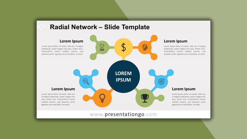 Free Radial Network for PowerPoint and Google Slides