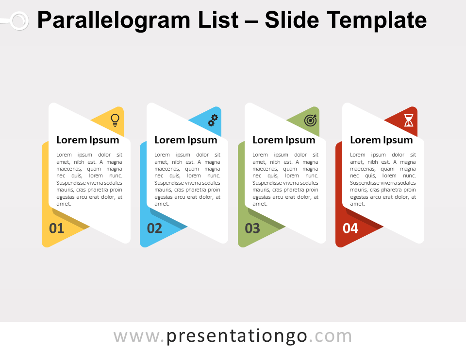Free Parallelogram List for PowerPoint