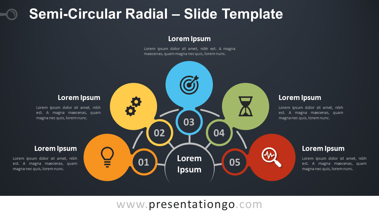 Free Semi-Circular Radial Diagram for PowerPoint and Google Slides