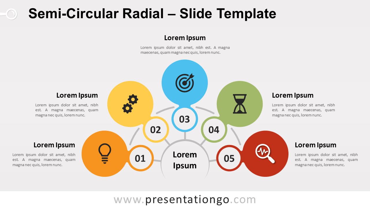Free Semi-Circular Radial for PowerPoint and Google Slides
