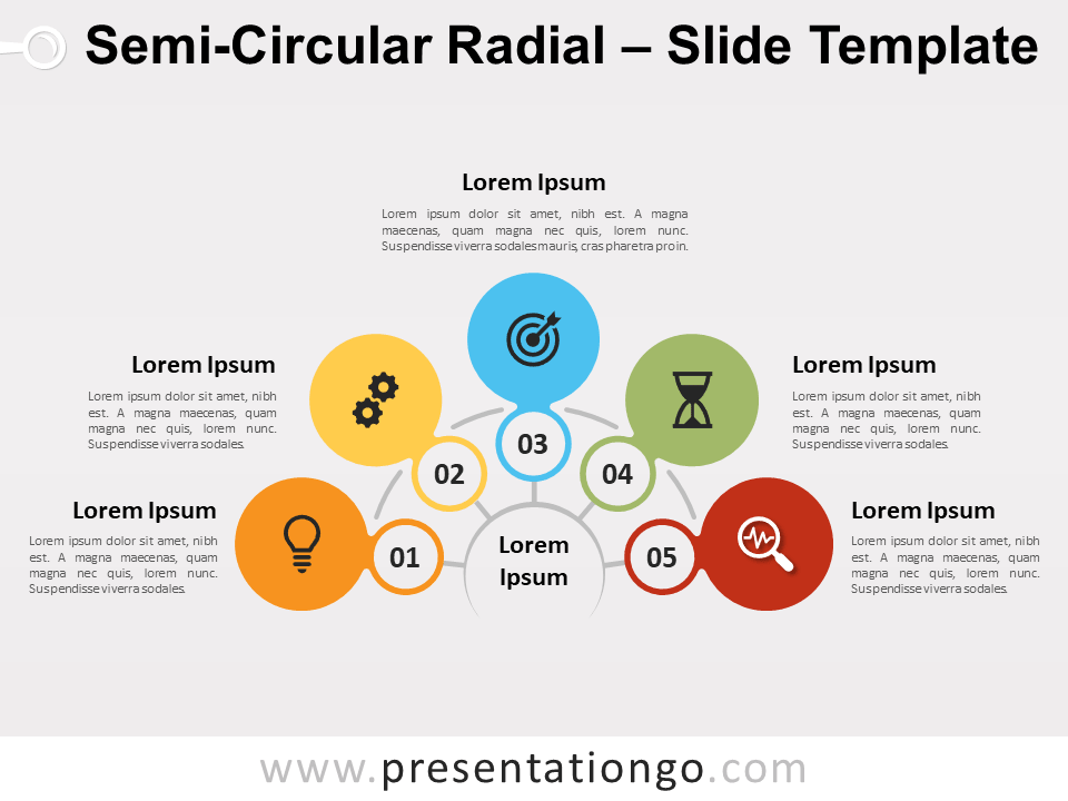 Free Semi-Circular Radial for PowerPoint