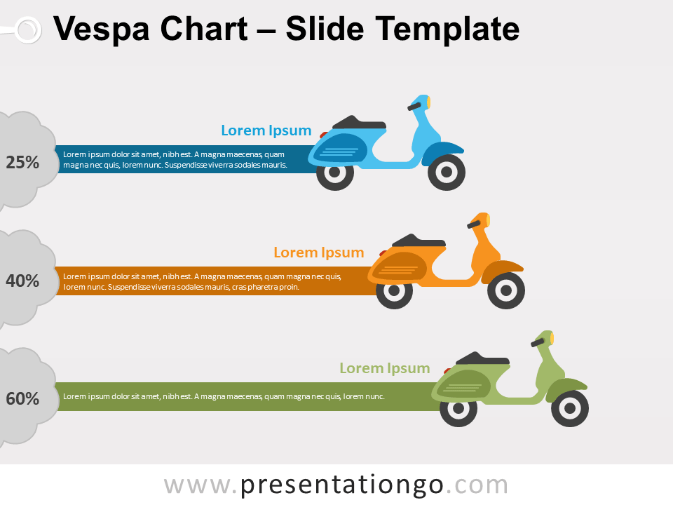 Free Vespa Chart for PowerPoint